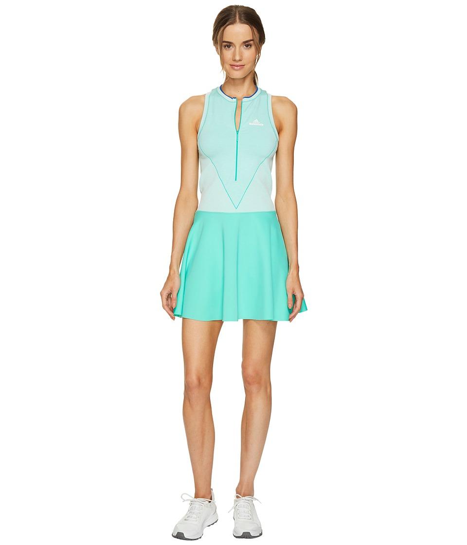 adidas by Stella McCartney Barricade Dress (Hyper Green/White) Women