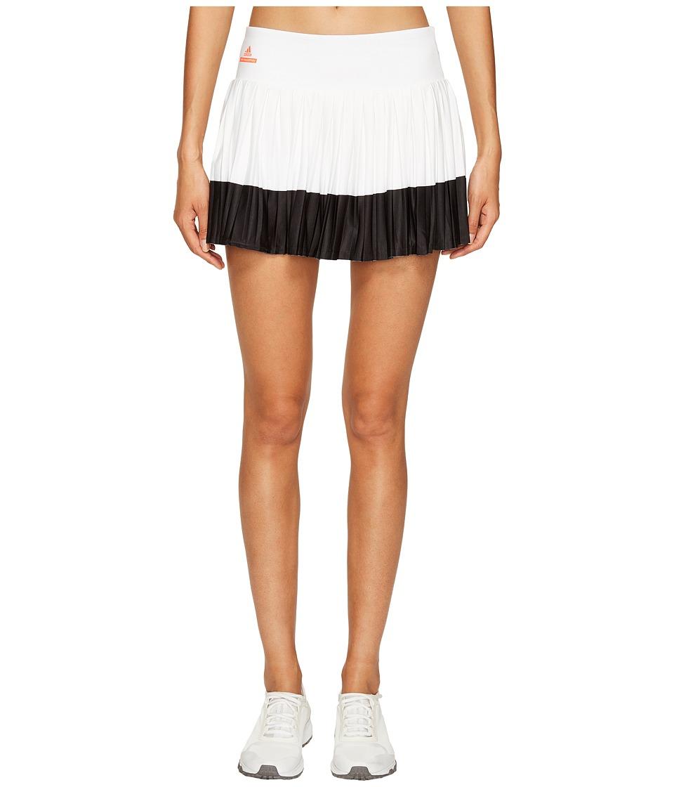 adidas Stella Barricade Tennis Skirt (White/Black) Women