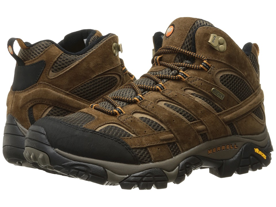 Merrell Moab 2 Mid Waterproof (Earth) Men's Shoes