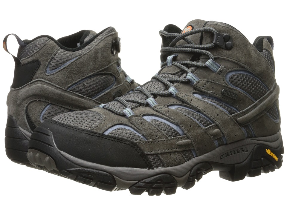 MerrellMoab 2 Mid Waterproof  (Granite) Womens Shoes