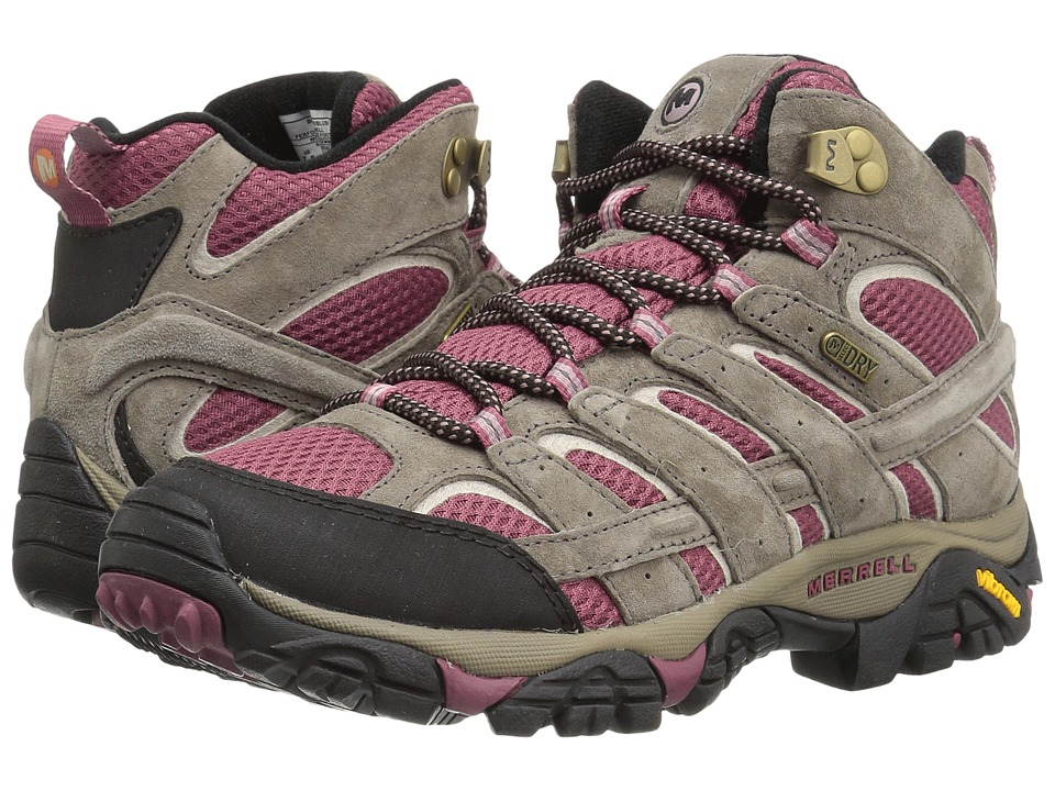 Merrell Moab 2 Mid Waterproof (Boulder/Blush) Women's Shoes