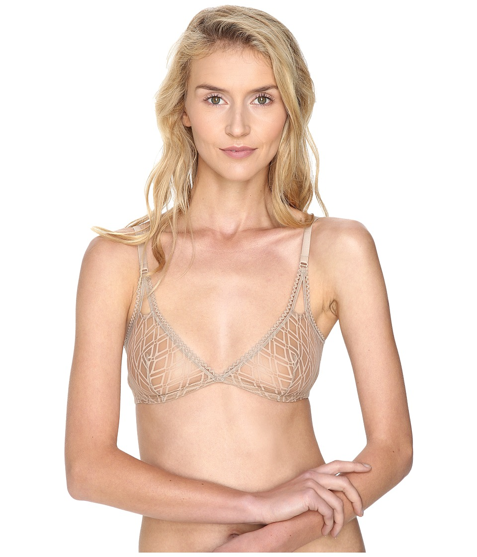 ELSE - Baklava Deep Plunge Soft Bra (Nude) Womens Bra