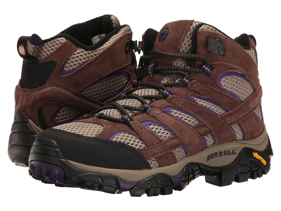 Merrell Moab 2 Vent Mid (Bracken/Purple) Women's Shoes
