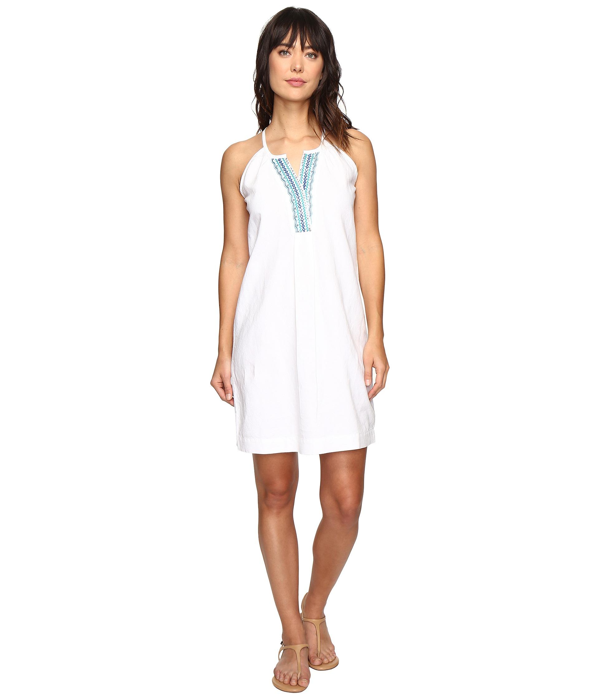White Linen Dress- White - Shipped Free at Zappos