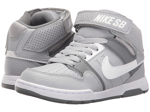 Nike SB Kids Mogan Mid 2 Jr (Little Kid/Big Kid) - Wolf Grey/White/Cool Grey