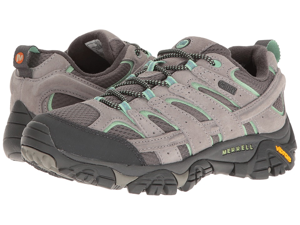 Merrell Moab 2 Waterproof (Drizzle/Mint) Women's Shoes
