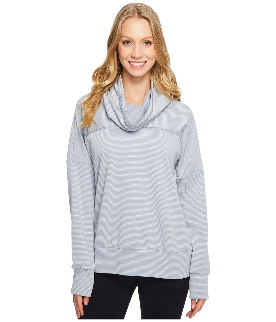 Lucy Keep Going Cowl Pullover (Sleet Grey Stripe) Women