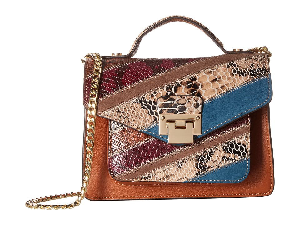 Sam Edelman - Kylie Mini Crossbody (Cognac Multi) Cross Body Handbags