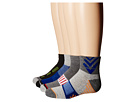 Jefferies Socks Tech Sport Half Cushion Quarter Socks 6-Pair Pack (Toddler/Little Kid/Big Kid/Adult)