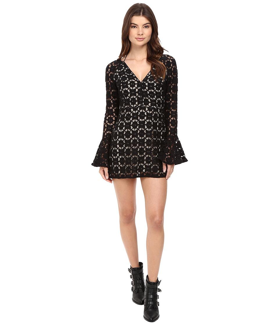 Free People Back to Black Mini Dress (Black) Women