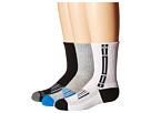 Jefferies Socks - Tech Sport Half Cushion Crew Socks 3-Pair Pack (Toddler/Little Kid/Big Kid/Adult)