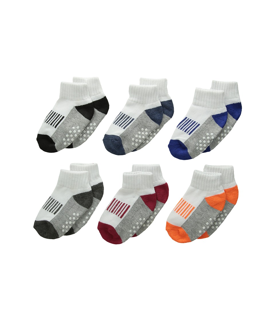 Jefferies Socks - Sporty Half Cushion Quarter Socks 6-Pair Pack (Toddler/Little Kid/Big Kid/Adult) (Multi) Boys Shoes