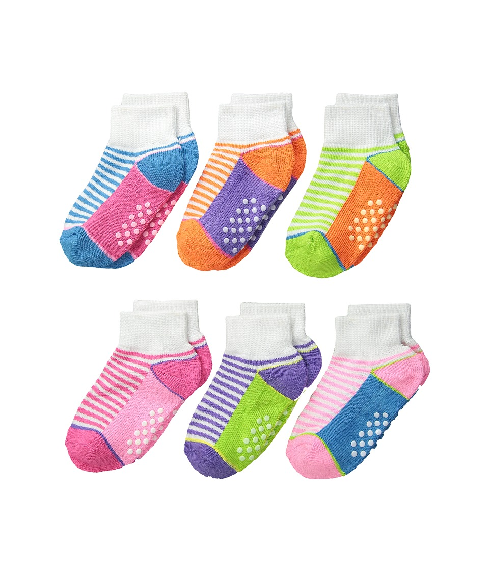 Jefferies Socks - Sporty Half Cushion Quarter Socks 6-Pair Pack (Toddler/Little Kid/Big Kid/Adult) (Multi) Girls Shoes