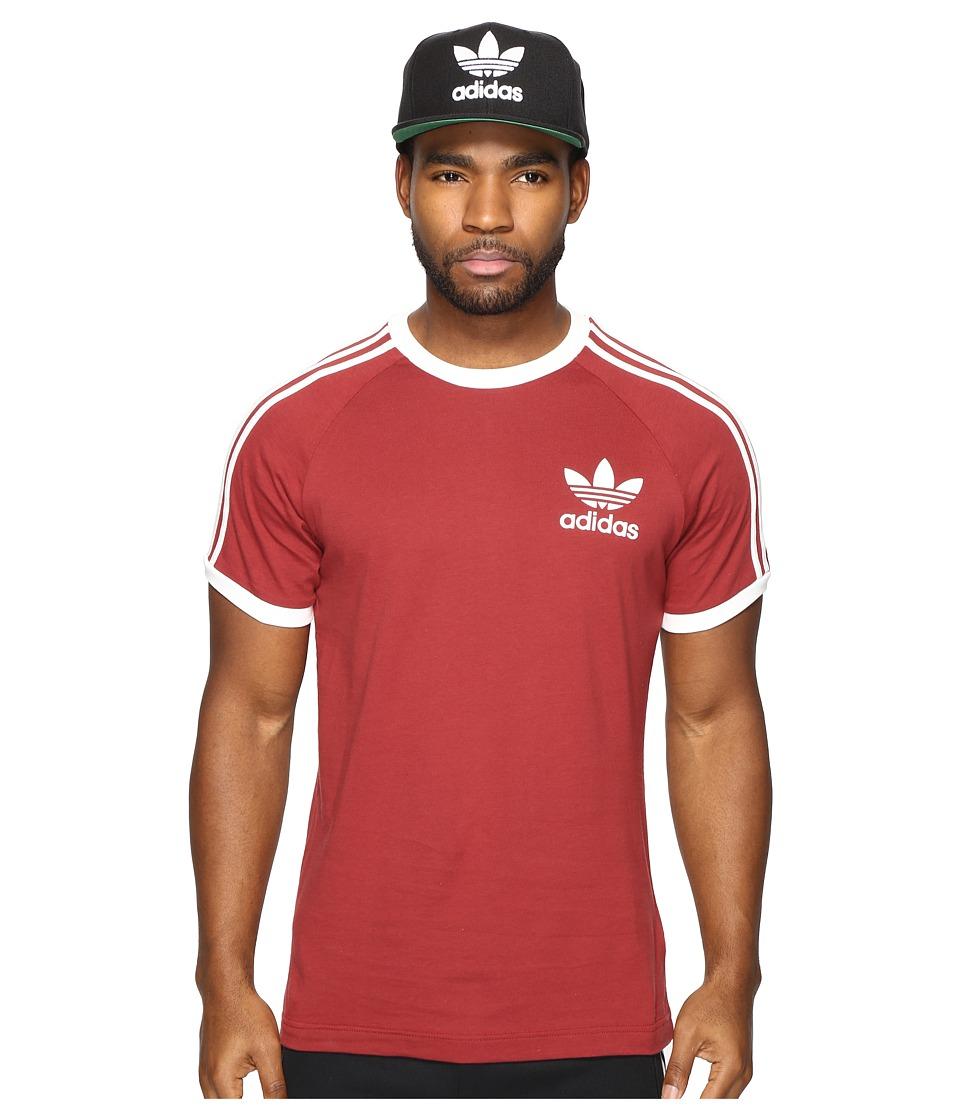 adidas Originals California Tee (Mystery Red) Men