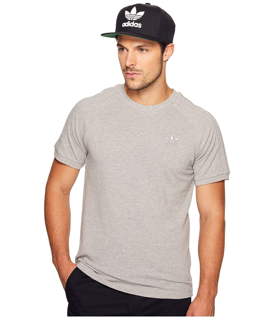 adidas Originals California Triple Tee (Medium Grey Heather) Men