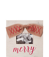 Mud Pie - Merry Frame with Burlap Bow