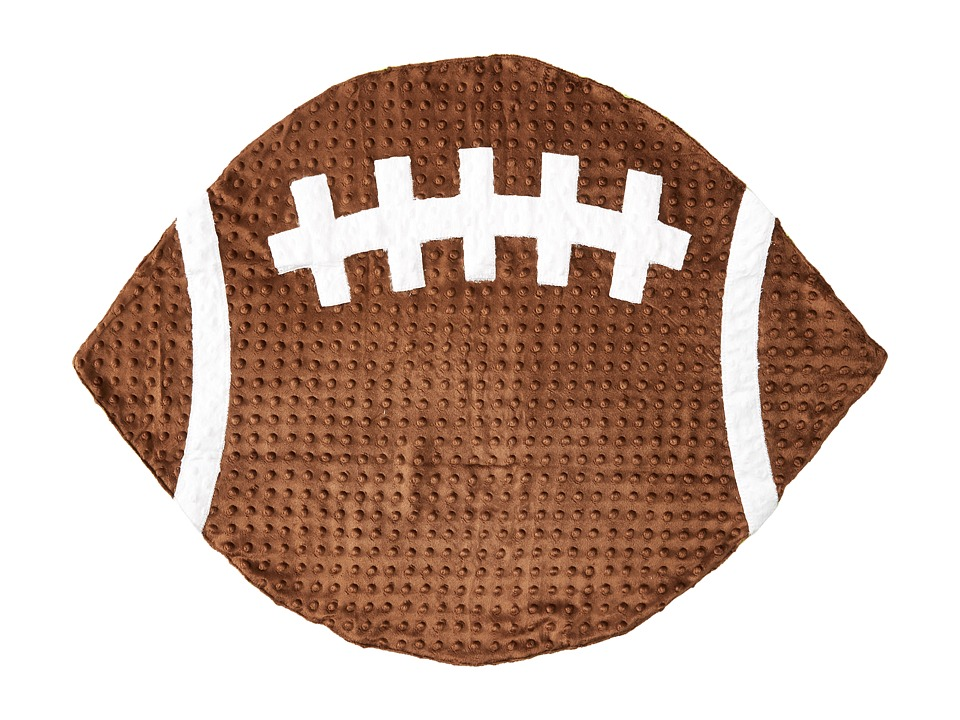 Mud Pie - Football Blanket (Brown) Accessories Travel
