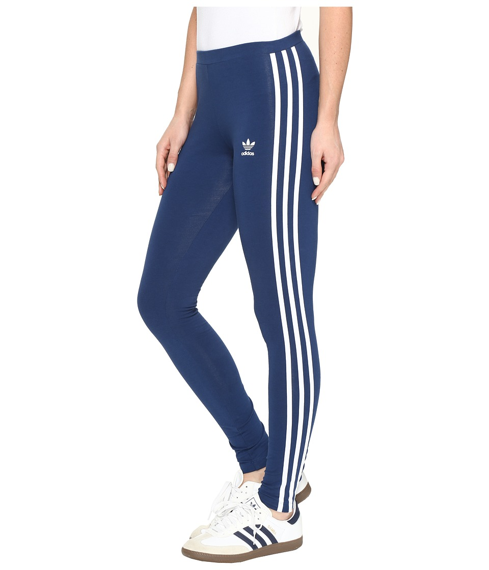 adidas Originals 3-Stripes Leggings (Mystery Blue) Women