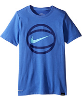 Nike Kids - Short Sleeve Ball Logo Dry Tee (Little Kids/Big Kids)