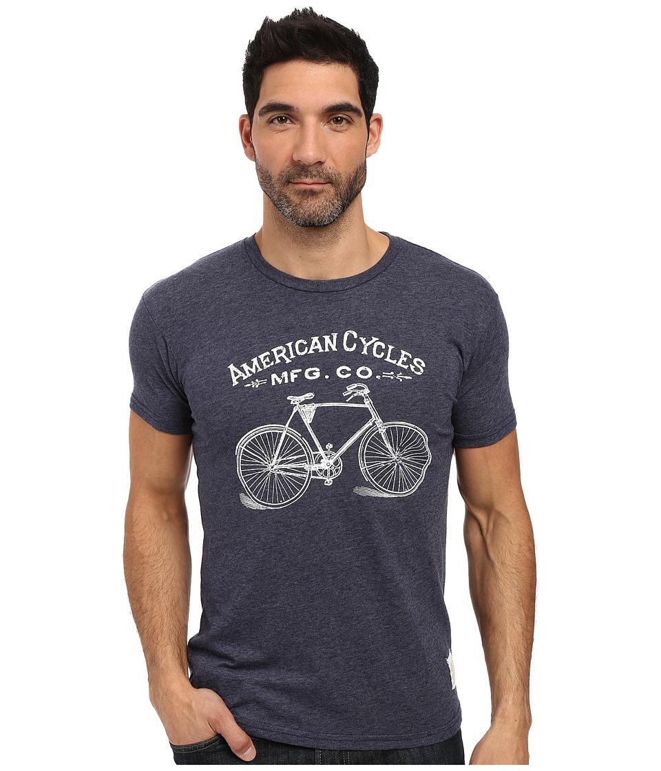 The Original Retro Brand - Short Sleeve Tri-Blend American Cycle Tee