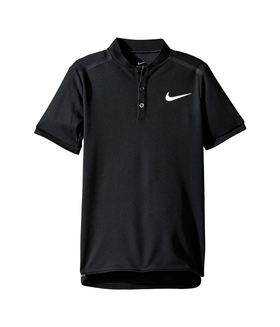 Nike Kids - Court Advantage Tennis Polo (Little Kids/Big Kids) (Black) Boys Short Sleeve Pullover