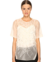 Prabal Gurung - Short Sleeve Embroidered Blouse