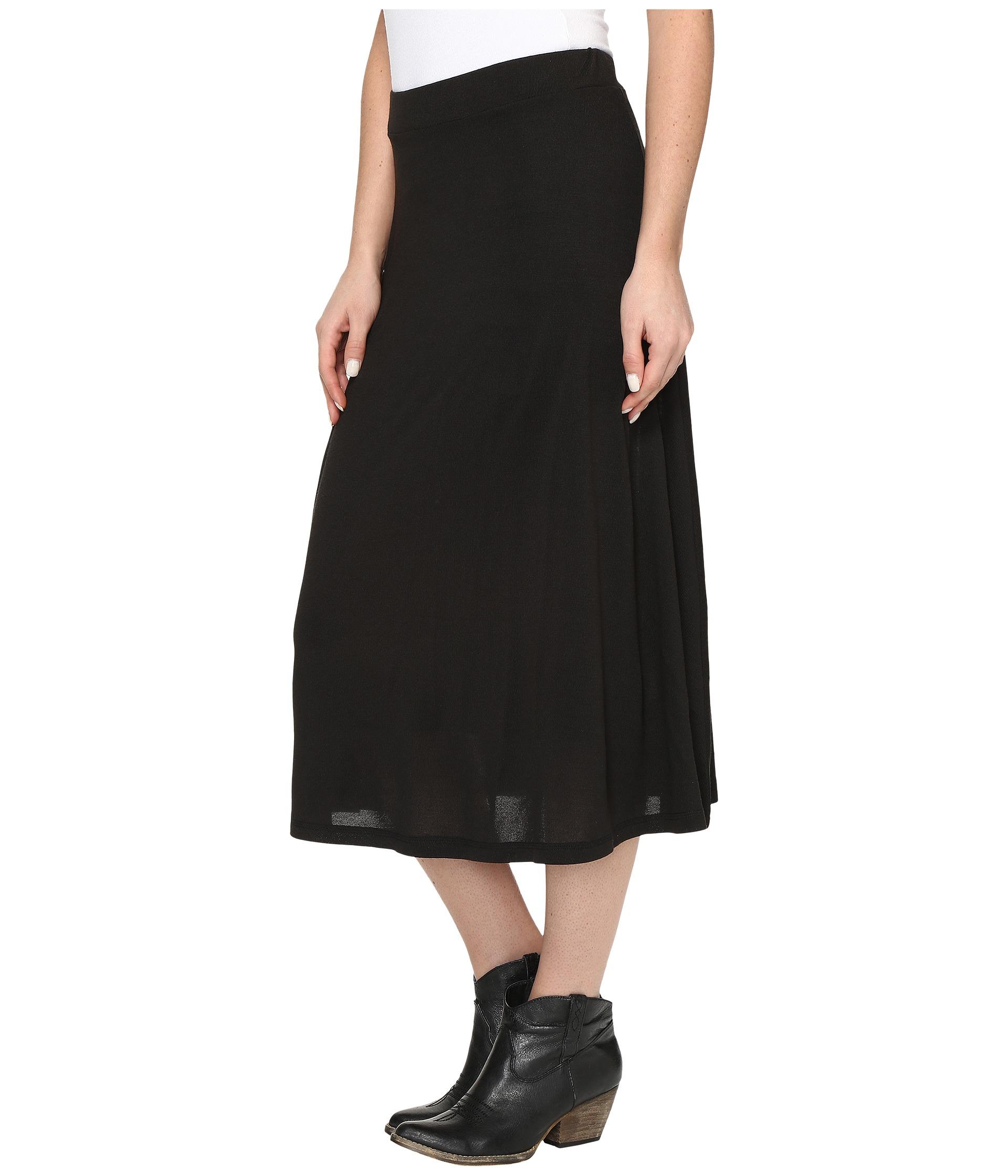 roper 0612 black sweater jersey a line skirt black