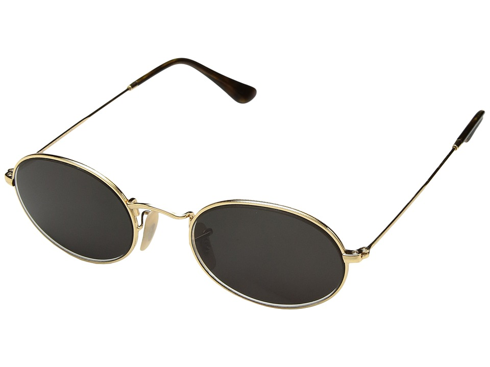Ray-Ban 0RB3547 Oval Flat Lenses 51mm (Gold) Fashion Sunglasses