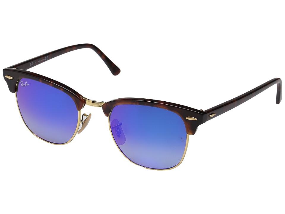 Ray-Ban Clubmaster RB3016 51mm (Tortoise/Blue Gradient Flash) Fashion Sunglasses