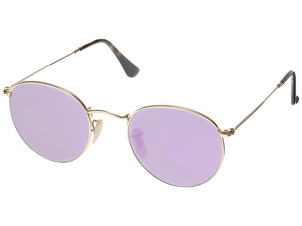 Ray-Ban RB3447 50mm (Gold/Lilac) Fashion Sunglasses