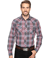 Roper - 0628 Dark Rose Plaid with Dobby