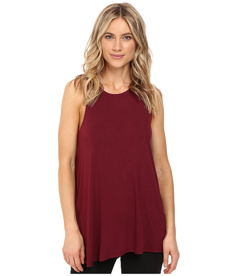 RVCA Label High Neck Tunic Tank Top - Scarlet
