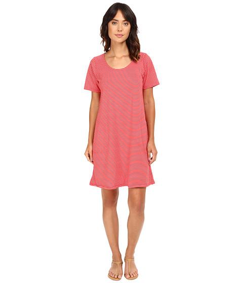 Fresh Produce - Pinstripe Allure T-Shirt Dress (Peri Blue) Women's Dress