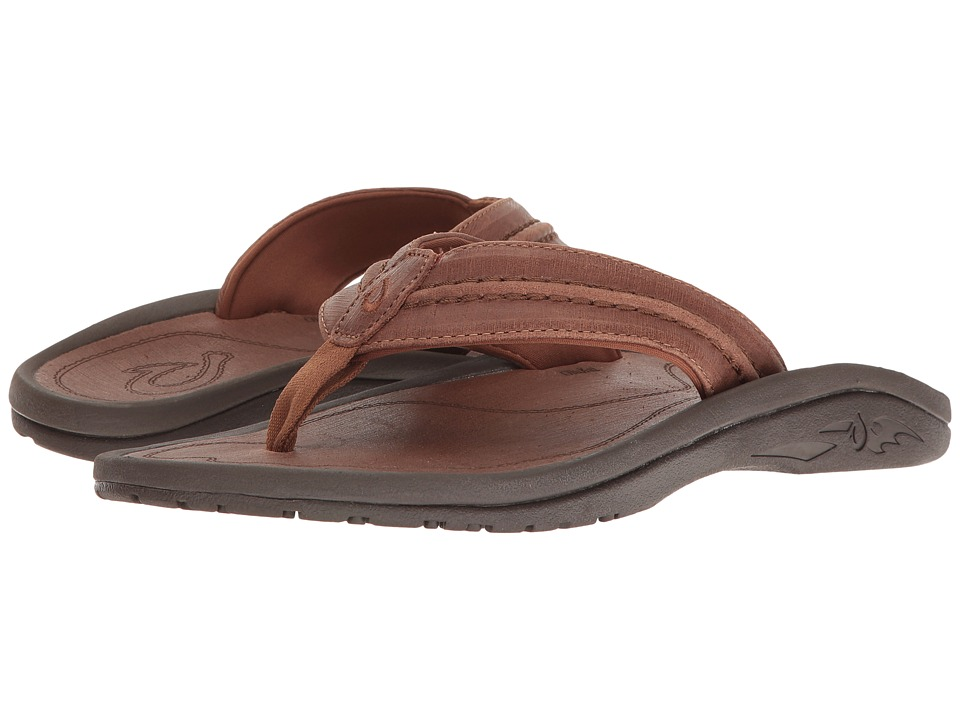 OluKai Hokua Leather (Toffee/Toffee Distressed Finish) Men