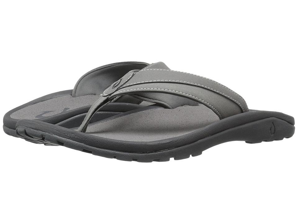 OluKai 'Ohana Koa (Charcoal/Charcoal) Men's Sandals