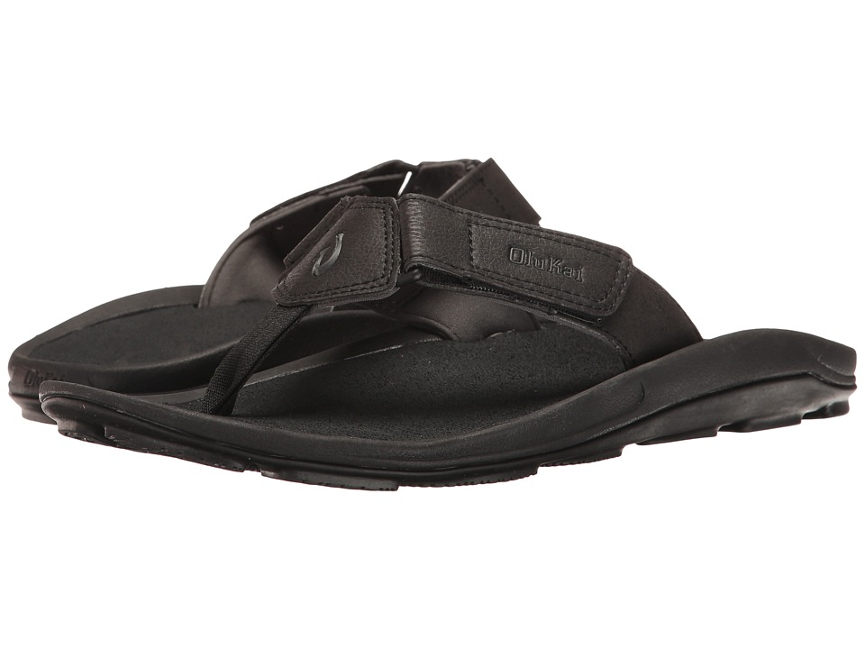 OluKai - Pa'a (Black/Dark Shadow) Men's Sandals