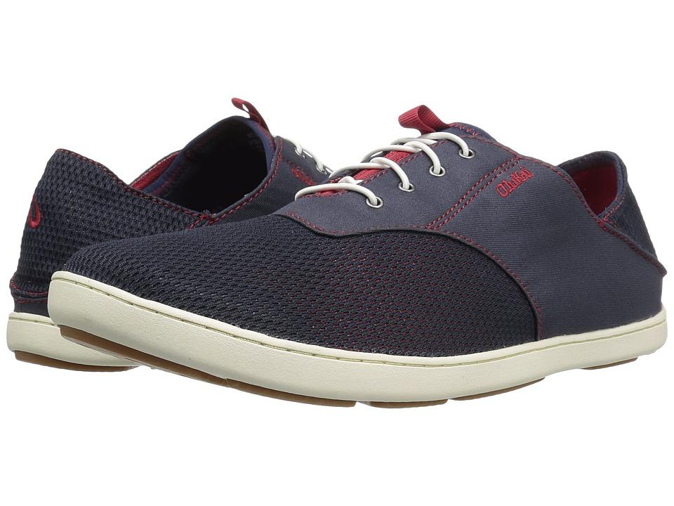 OluKai Nohea Moku (Trench Blue/Deep Red) Men's Shoes