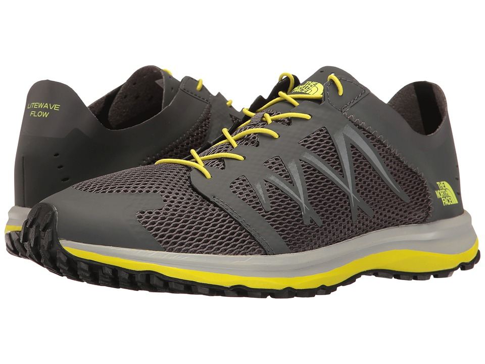 The North Face Litewave Flow Lace (Dark Shadow Grey/Sulphur Spring Green) Men