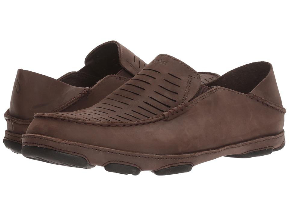OluKai Moloa Kohana II (Dark Wood/Dark Wood) Men's Shoes