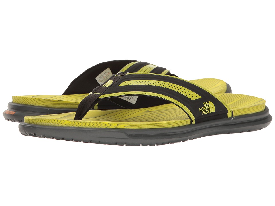 The North Face Base Camp XtraFoam Flip Flop (TNF Black/Sulphur Spring Green) Men