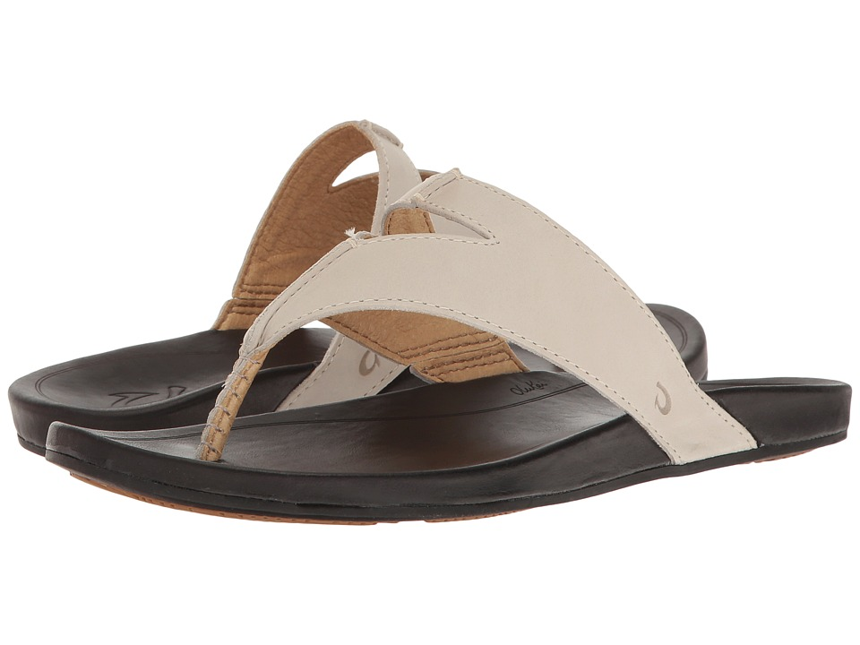 OluKai - Lala (Off-White/Black) Women's Sandals