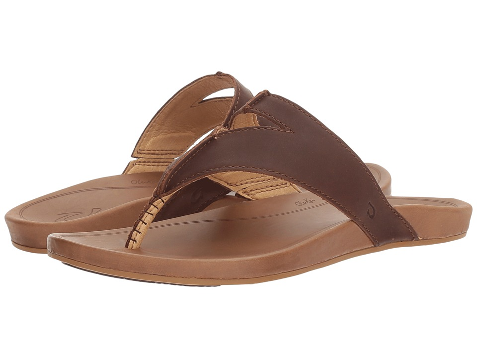 OluKai Lala (Kona Coffee/Tan) Sandals