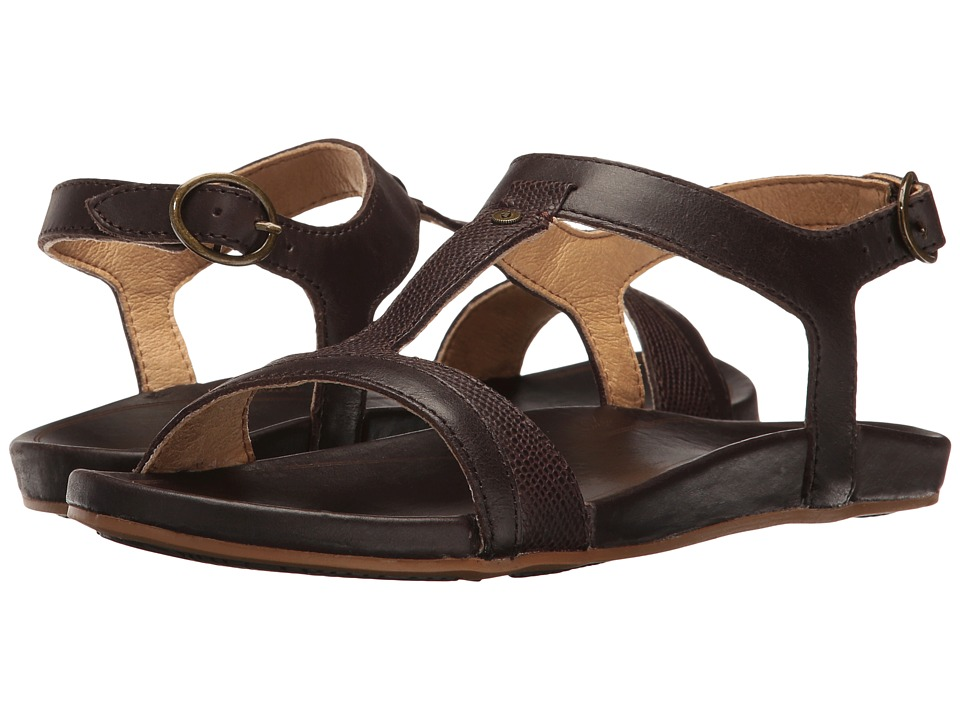 OluKai - Hi'ona Sandal (Dark Java,Dark Java) Women's Sandals
