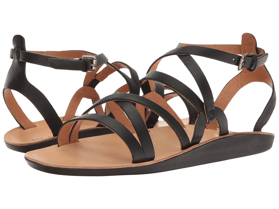 OluKai - Po'iu (Black/Black) Women's Sandals