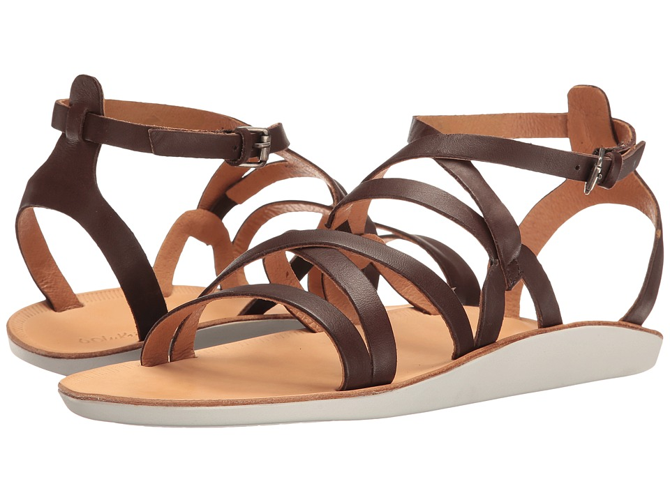 OluKai Po'iu (Dark Java/Bone) Sandals