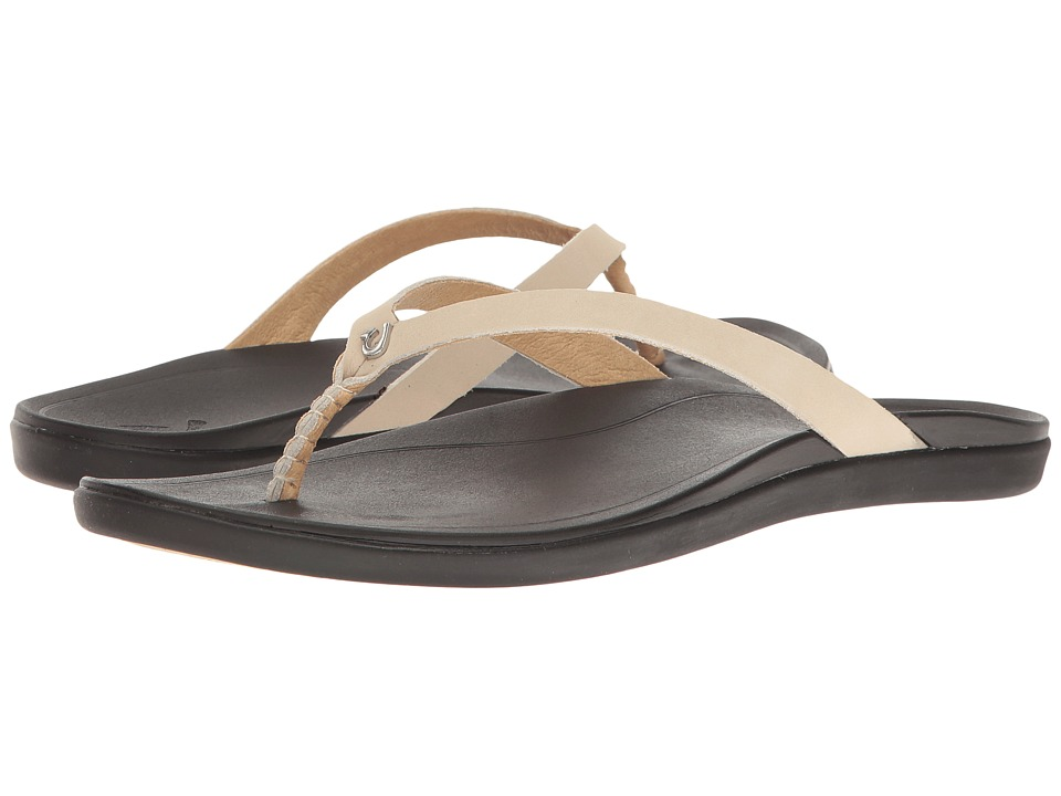 OluKai Ho'opio Leather (Tapa/Black) Sandals