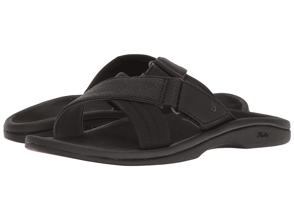 OluKai - 'Ohana Slide (Black/Black) Women's Sandals
