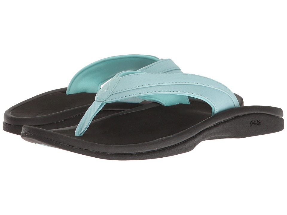 OluKai Ohana W (Sea Glass/Black) Sandals