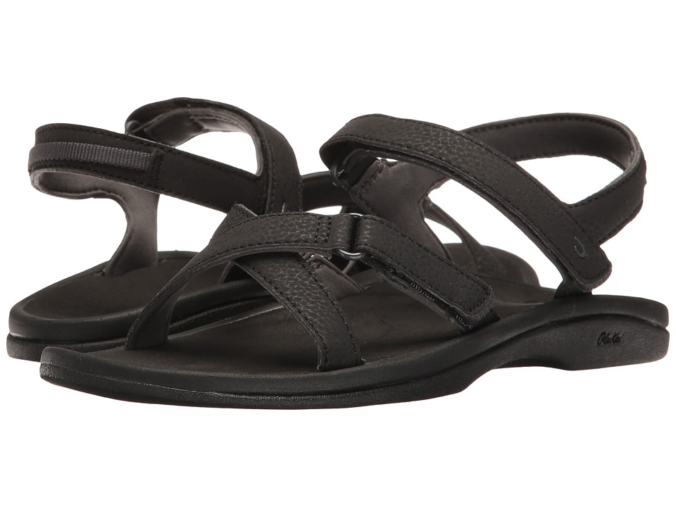 OluKai - Nakue (Black/Black) Women's Sandals