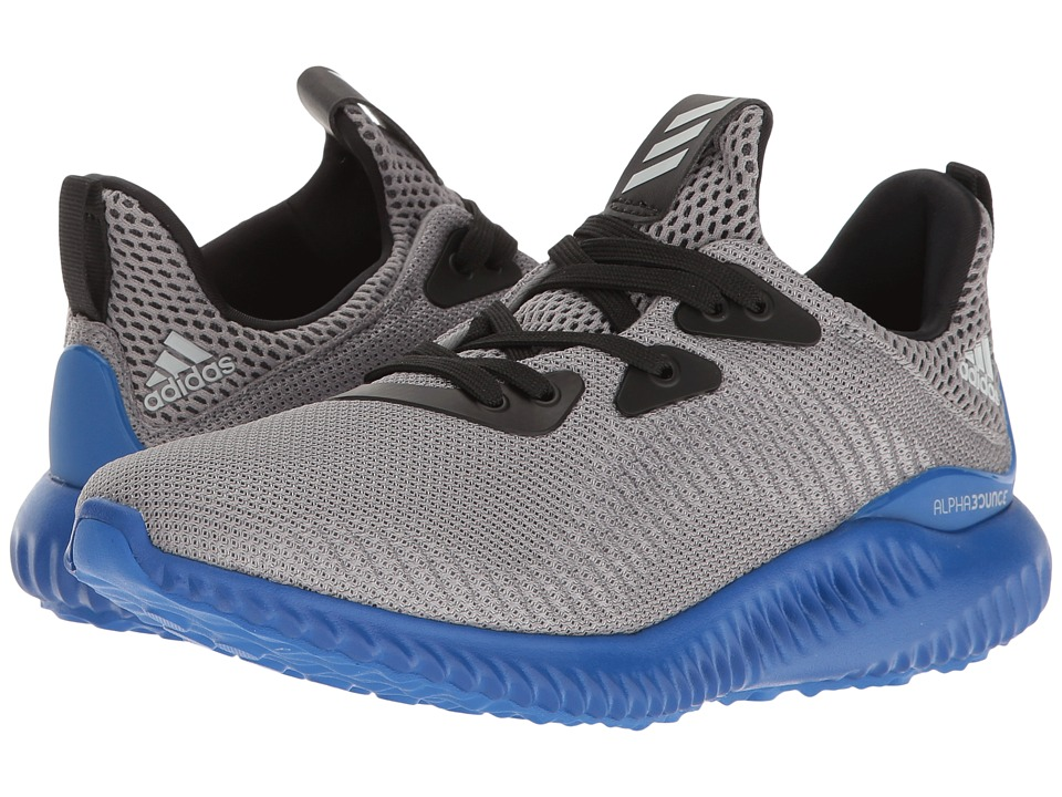 adidas Kids Alpha Bounce (Big Kid) (Trace Grey/Energy/Clear Aqua) Boys Shoes